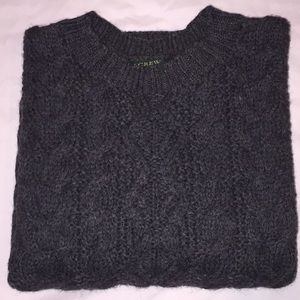 J. Crew 100% Wool Cable Knit Sweater
